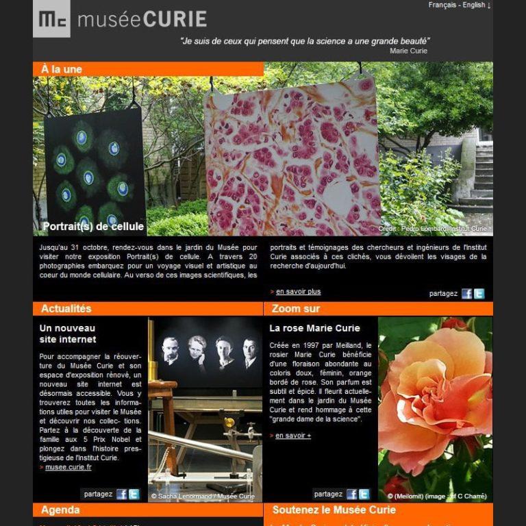 Création et intégration de newsletter, français / anglais, Paris