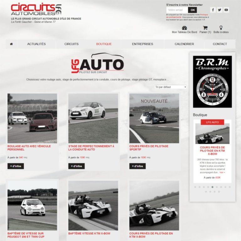 Réalisation site internet e-commerce responsive - Vue desktop