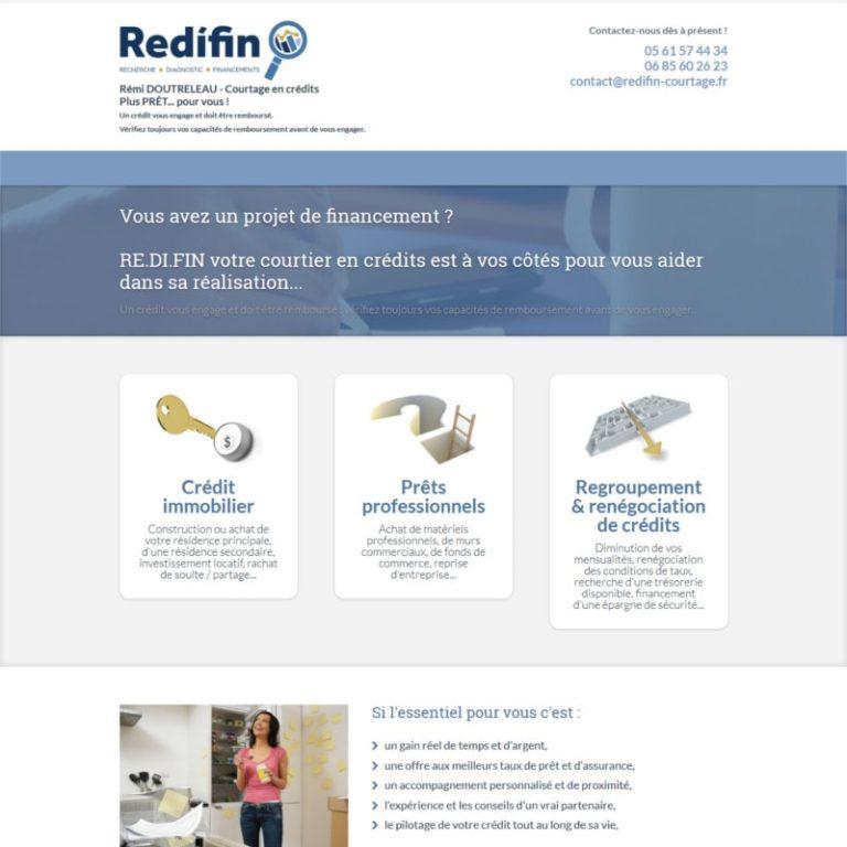 Réalisation site web courtier en crédits Labège | Vue desktop | Matthieu Pain Créations Multimédia | Toulouse