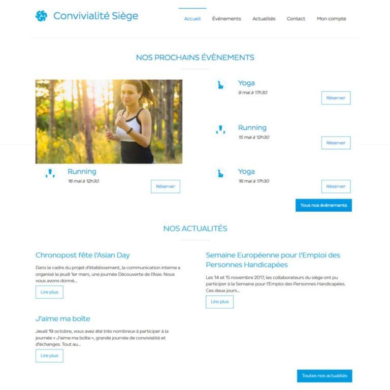Création d'un site internet de réservation d'évènements - Vus Desktop