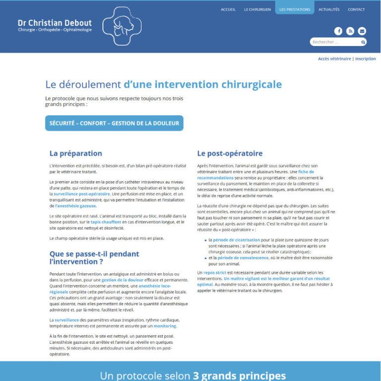 Réalisation site web chirurgien vétérinaire - Plaisance-du-Touch | Matthieu Pain Créations Multimédia | Toulouse