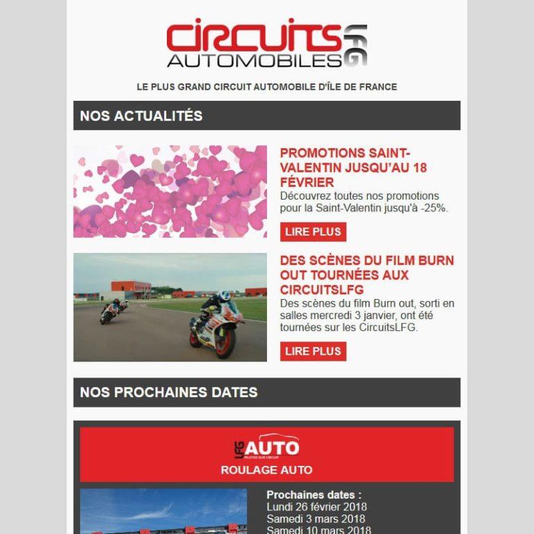 Création et intégration d'une newsletter sport