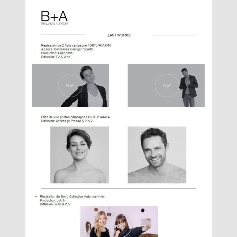 Création et intégration de newsletter - Photographe / vidéaste - Paris