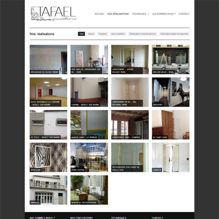 Réalisation site web Tafael - Travaux de peinture haut de gamme - Paris | Matthieu Pain Créations Multimédia | Toulouse